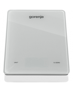 Gorenje Kitchen Scale KT05 LBW Electronic, Graduation 1 g, Maximum weight (capacity) 5 kg, Display type LED, White