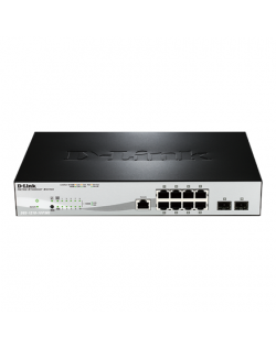 D-Link Metro Ethernet Switch DGS-1210-10/ME Managed L2, Rack mountable, 1 Gbps (RJ-45) ports quantity 8, SFP ports quantity 2, P