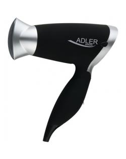 Plaukų džiovintuvas Adler Garantija 24 mėn., Sulankstoma rankena, Motoro tipas DC, 1250 W, Black/Silver