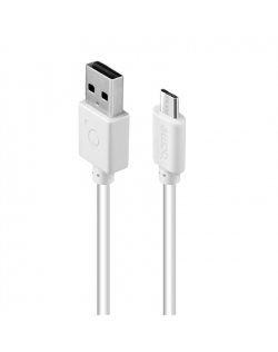 Acme Cable CB1012W 2 m, White, Micro USB, USB A