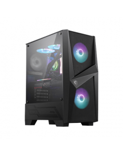 MSI MAG FORGE 100R PC Case, Mid-Tower, USB 3.2, Black