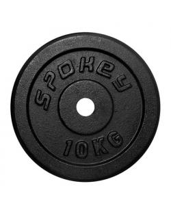 Spokey SINIS Cast Iron Load, 2.9 cm hole diameter, 10 kg, Black