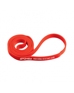 Spokey POWER II Rubber resistance band, 15-23 kg (medium), Red