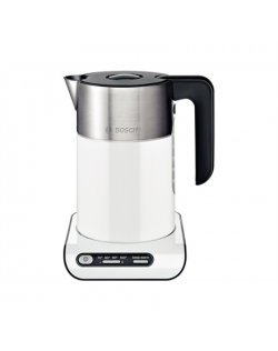 Bosch TWK8611P With electronic control, Stainless steel, White, 2400 W, 360° rotational base, 1.5 L