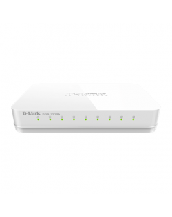 D-Link Switch DGS-1008A/D Unmanaged, Desktop, 1 Gbps (RJ-45) ports quantity 8, Power supply type Single