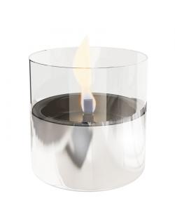 Tenderflame Table burner Lilly 1W Glass Diameter 10 cm, Height 12 cm, 200 ml, 7 hours, Silver
