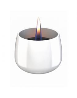 Tenderflame Table burner Crocus 1W Glass Diameter 9.5 cm, Height 7.5 cm, 200 ml, 8 hours, White