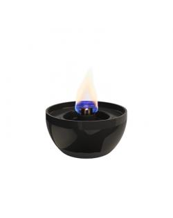 Tenderflame Table burner Rose 3W Porcelain Diameter 14 cm, Height 7.5 cm, 300 ml, 4-5 hours, Black