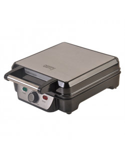Camry Waffle maker CR 3025 1150 W, Number of pastry 4, Belgium, Black/Stainless steel