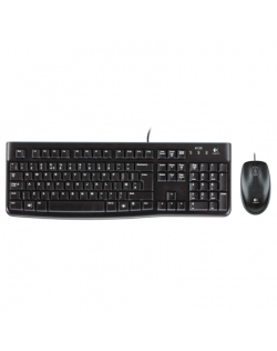 Logitech LGT-MK120-US Keyboard and Mouse, Keyboard layout QWERTY, USB Port, Black, Mouse included, International EER