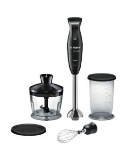 Bosch CleverMixx MSM2650B Black, Hand Blender, 600 W, Shaft material Stainless steel, Mini chopper, Material jar(s) Plastic