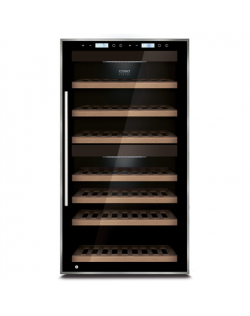 Caso Wine cooler WineMaster Touch 66 Free standing, Bottles capacity Up to 66 bottles, Cooling type Compressor technology, Black