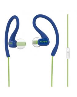 Koss Headphones KSC32iB In-ear/Ear-hook, 3.5mm (1/8 inch), Microphone, Blue,