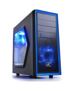 Deepcool Tesseract Side window, USB 3.0 x1, USB 2.0 x1, Mic x1, Spk x1, Black, ATX, Power supply included No