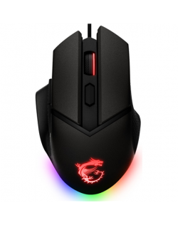 MSI Clutch GM20 Elite Optical, RGB LED light, Black, Gaming Mouse