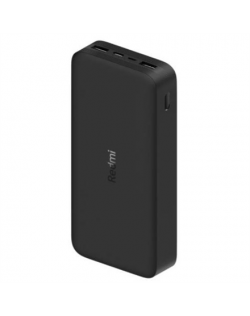 Xiaomi Redmi Fast Charge Power Bank 20000 mAh, Black, 18 W