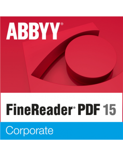 Abbyy FineReader 15 Corporate, Volume Licenses (concurrent), 1 year(s), License quantity 5-10 user(s), Software Maintenance