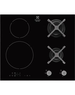 Electrolux Hob EGD6576NOK Induction and gas, Number of burners/cooking zones 4, Black, Display, Timer