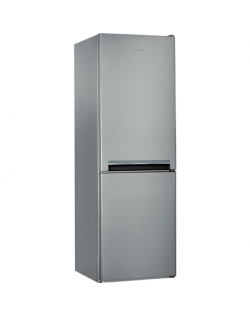 INDESIT Refrigerator LI7 S1E S Energy efficiency class F, Free standing, Combi, Height 176.3 cm, Fridge net capacity 197 L, Free