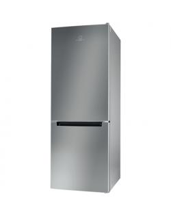 INDESIT Refrigerator LI6 S1E S Energy efficiency class F, Free standing, Combi, Height 158.8 cm, Fridge net capacity 197 L, Free