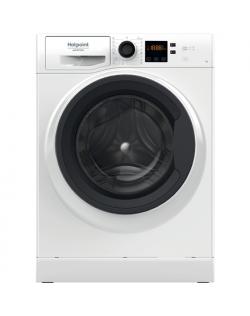 Hotpoint Washing machine NS722U WK EU N Energy efficiency class E, Front loading, Washing capacity 7 kg, 1200 RPM, Depth 52.2 cm
