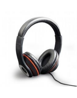 """Gembird Stereo headset, """"Los Angeles"""" + microphone, passive noise canceling Black, 3.5 mm"""