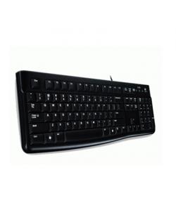 Logitech K120, US Keyboard, Keyboard layout QWERTY, USB Port, 1.5 m, Black, US International, 550 g