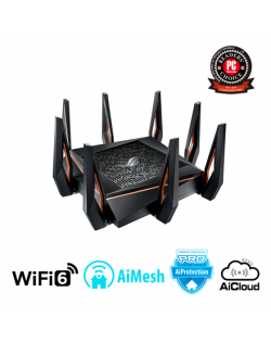 Asus Gaming Router ROG GT-AX11000 802.11ax, 1148+4804+4804 Mbit/s, 10/100/1000 Mbit/s, Ethernet LAN (RJ-45) ports 4, Mesh Suppor
