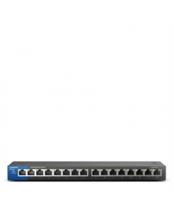 Linksys Switch LGS116 Unmanaged, Desktop, 1 Gbps (RJ-45) ports quantity 16, Power supply type External