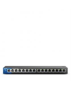 Linksys Switch LGS116 Unmanaged, Desktop, 1 Gbps (RJ-45) ports quantity 16, Power supply type External