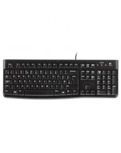 Logitech K120 Multimedia, Keyboard layout EN/RU, USB Port, 1.5 m, Black, Russian, Numeric keypad, 550 g
