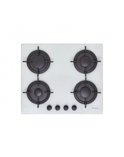 Candy Gas on glass, Number of burners/cooking zones 4, White,