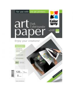 ColorWay ART T-shirt transfer (dark) Photo Paper, 5 sheets, A4, 120 g/m²