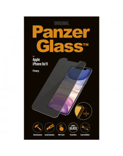 PanzerGlass P2662 Apple, iPhone Xr/11, Tempered glass, Transparent, with Privacy filter