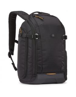 Case Logic Viso Slim Camera Backpack CVBP-105 Backpack, Black, Molded EVA base , Egg crate foam, Rain cover