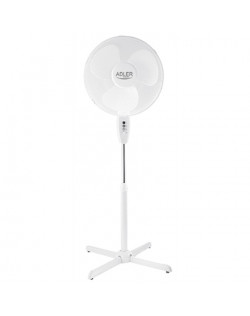 Adler AD 7305 Stand Fan, Number of speeds 3, 90 W, Oscillation, Diameter 40 cm, White