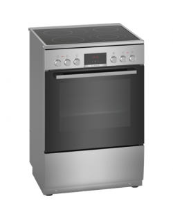 Bosch Cooker HKR39A250U Hob type Vitroceramic, Oven type Electric, Stainless steel, Width 60 cm, Electronic ignition, Grilling,