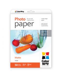 ColorWay Matte Photo Paper, 50 sheets, 10x15, 190 g/m²