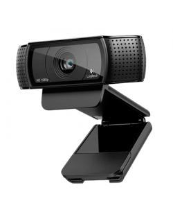 Logitech C920 Black, up to 1920 x 1080 pixels pixels, 720p, 1080p, USB 2.0, USB port