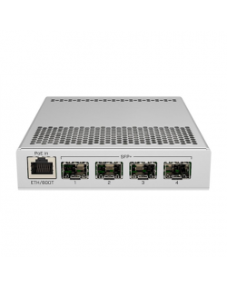 MikroTik Switch CRS305-1G-4S+IN PoE 802.3 af and PoE+ 802.3 at, Managed, Desktop, 1 Gbps (RJ-45) ports quantity 1, SFP+ ports qu