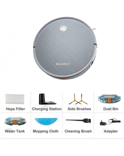 Mamibot Vacuum cleaner Exvac660 Wet&Dry, Operating time (max) 100 - 120 min, Lithium Ion, 2600 mAh, Dust capacity 0.6 L, 55 dB,