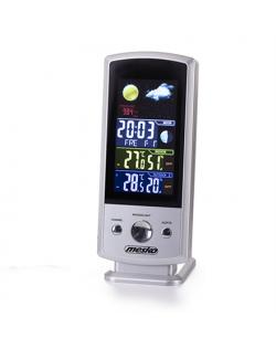 Mesko MS 1177 Weather station, White, Colorful Digital Display, Remote Sensor