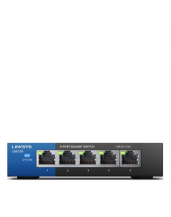 Linksys Switch LGS105 Unmanaged, Desktop, 1 Gbps (RJ-45) ports quantity 5, Power supply type External