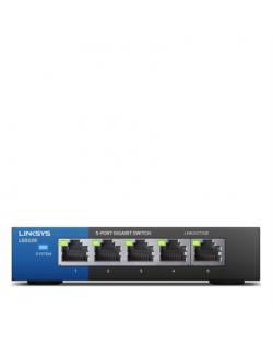 Linksys Switch LGS105 Unmanaged, Desktop, 1 Gbps (RJ-45) ports quantity 5, Power supply type External