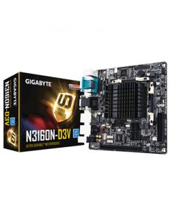 Gigabyte GA-N3160N-D3V Processor family Intel, Processor socket Intel SoC, DDR3 SO-DIMM, Memory slots 2, Chipset Intel C, Mini I