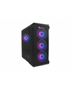 GENESIS IRID 503 ARGB Pc case, Micro tower, 2xUSB 2.0, 2x Jack, 1xUSB 3.0, Black