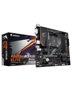 Gigabyte A520 AORUS ELITE 1.0 Processor family AMD, Processor socket AM4, DDR4 DIMM, Memory slots 4, Number of SATA connectors 4
