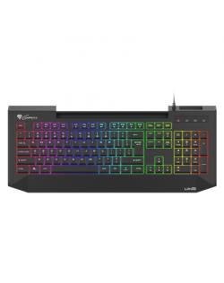 Genesis LITH 400 Gaming keyboard, RGB LED light, US, Black, Wired
