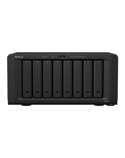 Synology Tower NAS DS1821+ Up to 8 HDD/SSD Hot-Swap, Ryzen V1500B Quad Core, Processor frequency 2.2 GHz, 4 GB, DDR4, RAID 0,1,5