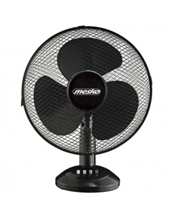 Mesko Fan MS 7310 Table Fan, Number of speeds 3, 45 W, Oscillation, Diameter 40 cm, Black